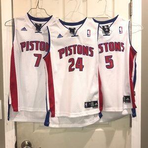 Lot of 3 Detroit Pistons Jerseys